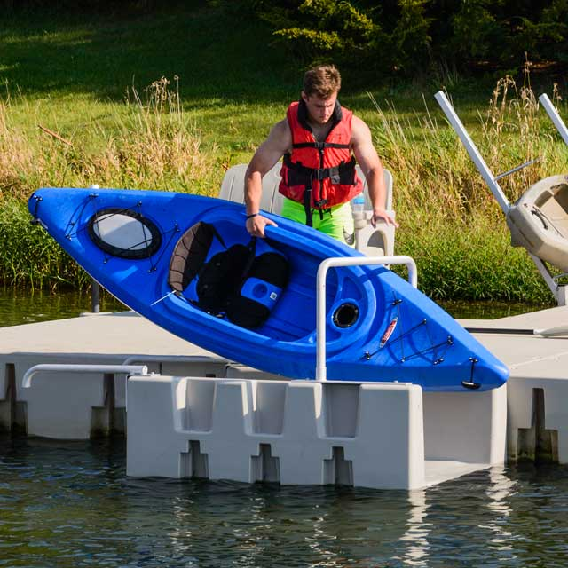 Place Kayak into the YAKport kayak launch