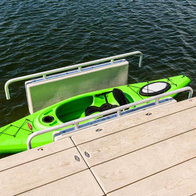 Yakbars kayak launch hand rails